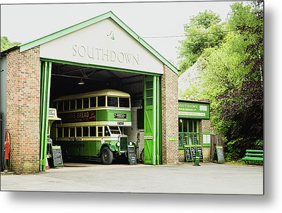 Southdown Bus Metal Print by Angela Aird