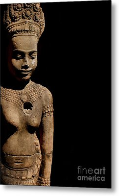 Metal Print featuring the photograph Southeast Asian Spiritual Statue - Cambodia by Louise Fahy