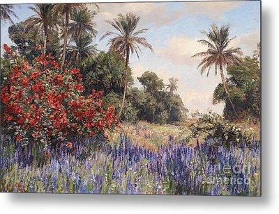 Southern Landscape With Lavender Metal Print