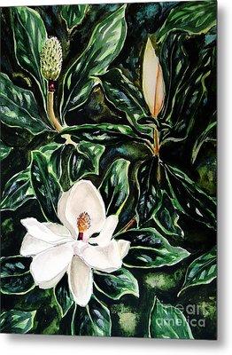 Southern Magnolia Bud And Bloom Metal Print