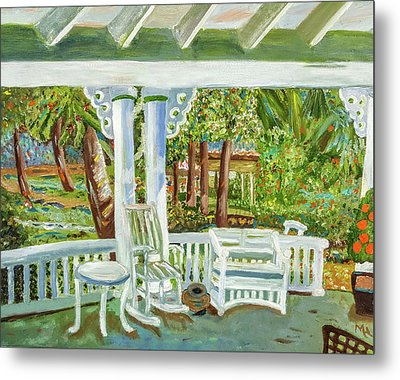 Southern Porches Metal Print