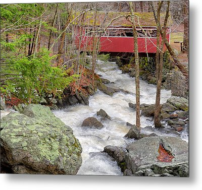 Southford Falls State Park Metal Print by Bill Wakeley