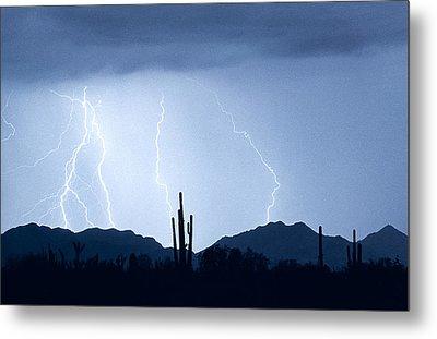 Southwest Desert Lightning Blues Metal Print by James BO  Insogna