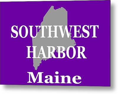 Metal Print featuring the photograph Southwest Harbor Maine State City And Town Pride  by Keith Webber Jr