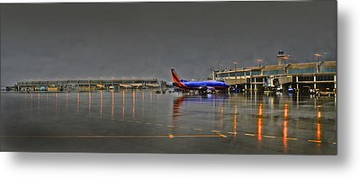 Southwest Plane In The Rain Metal Print by Don Wolf