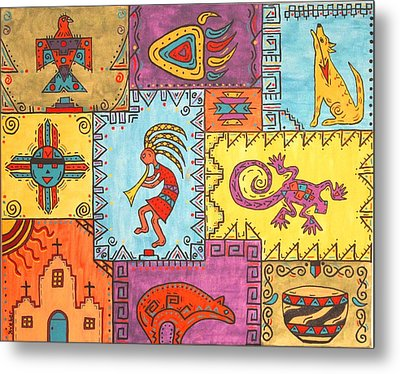 Southwest Sampler Metal Print