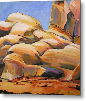 Southwest Stillness 3 Metal Print by Melody Cleary