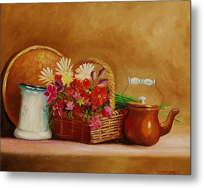 Metal Print featuring the painting Southwest Table by Gene Gregory