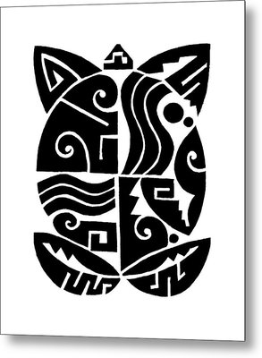 Metal Print featuring the digital art Southwest Tribal Tortuga by Vagabond Folk Art - Virginia Vivier