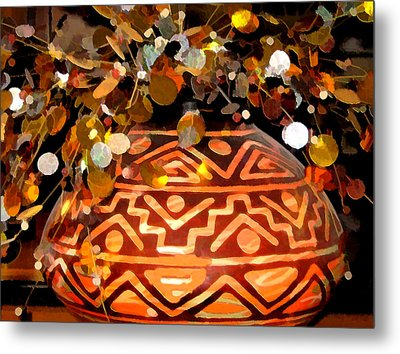 Southwest Vase Art Metal Print by Gary Baird