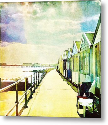 Metal Print featuring the photograph Southwold Beach Huts by Anne Kotan