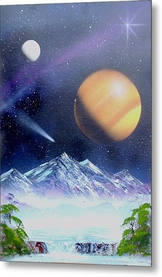 Space Art 2 Metal Print by Lane Owen