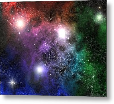 Metal Print featuring the digital art Space Clouds by Phil Perkins