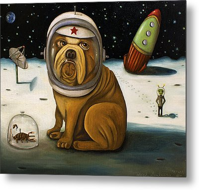 Space Crash Metal Print by Leah Saulnier The Painting Maniac