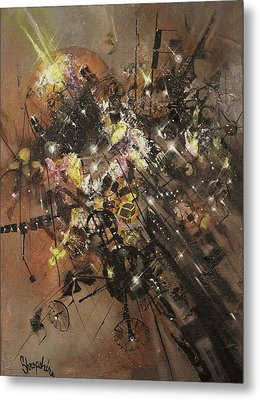 Space Debris Metal Print by Tom Shropshire