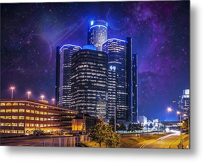 Metal Print featuring the photograph Space Detroit by Nicholas  Grunas