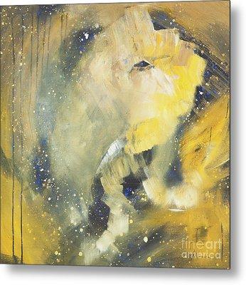 Space Elephant Metal Print by Kate Maconachie