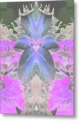 Space Lily Metal Print by Roxy Riou