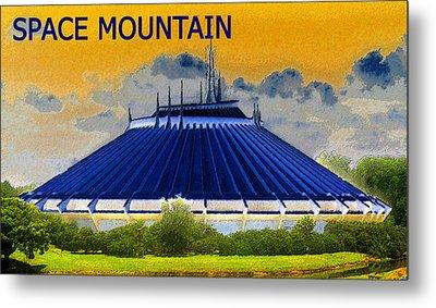 Space Mountain Metal Print by David Lee Thompson