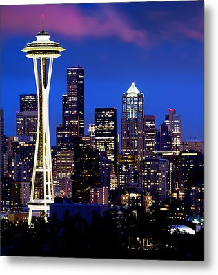 Space Needle At Night  Metal Print