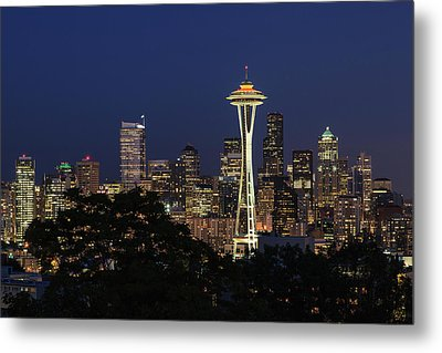 Space Needle Metal Print by David Chandler