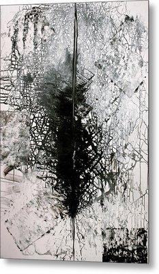 Metal Print featuring the painting Space Oddity by Jarmo Korhonen aka Jarko