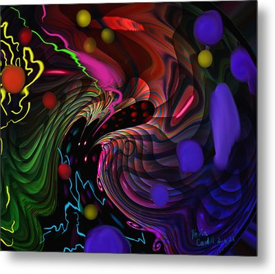 Space Rocks Metal Print