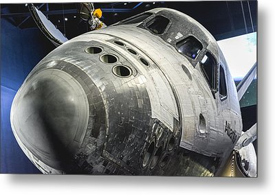 Space Shuttle Atlantis Metal Print by David Collins