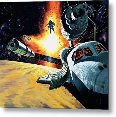 Space Shuttle Metal Print by Wilf Hardy
