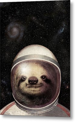 Space Sloth Metal Print by Eric Fan