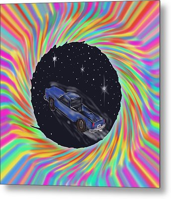 Space Truck'n Metal Print by Kevin Caudill