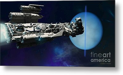 Spaceship To Neptune Metal Print by Corey Ford