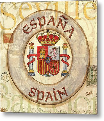 Spain Coat Of Arms Metal Print by Debbie DeWitt