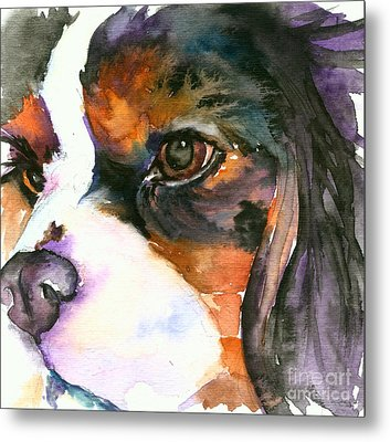 Metal Print featuring the painting Spaniel by Christy Freeman