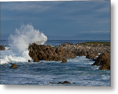 Spanish Bay Golf Ocean Wave Metal Print