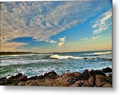 Metal Print featuring the painting Spanish Bay Sunrise by Larry Darnell