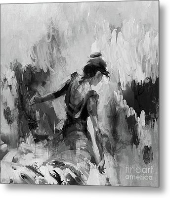 Metal Print featuring the painting Spanish Dance 7734j by Gull G