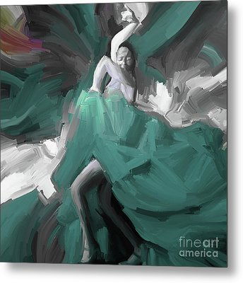 Metal Print featuring the painting Spanish Dance Art 56yt by Gull G