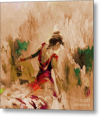 Metal Print featuring the painting Spanish Dance Culture  by Gull G