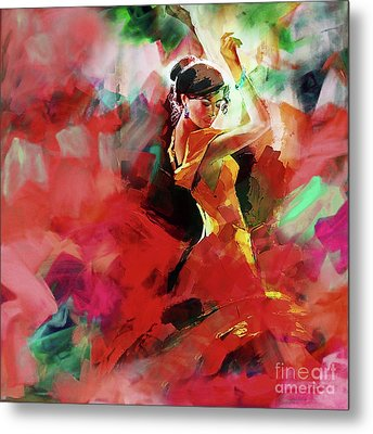 Metal Print featuring the painting Spanish Dance by Gull G