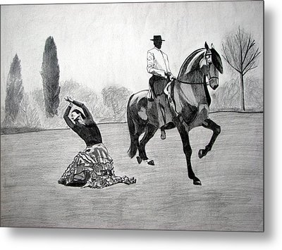 Spanish Dance Metal Print by Melita Safran