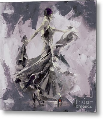Metal Print featuring the painting Spanish Dance Painting 03 by Gull G