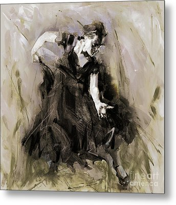 Metal Print featuring the painting Spanish Dancer 3400i by Gull G