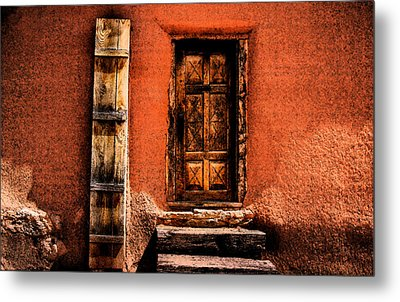 Metal Print featuring the photograph Spanish Door by Kathleen Stephens