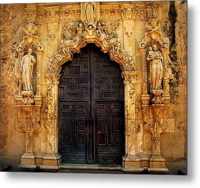 Spanish Doorway Metal Print by Perry Webster
