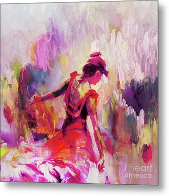 Metal Print featuring the painting Spanish Female Art 0087 by Gull G
