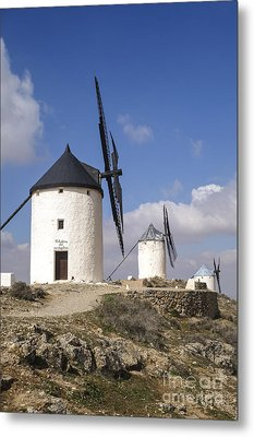 Spanish Windmills In The Province Of Toledo, Metal Print by Perry Van Munster