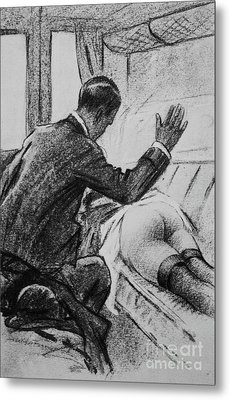 Spanked On The Train Metal Print by P Beloti