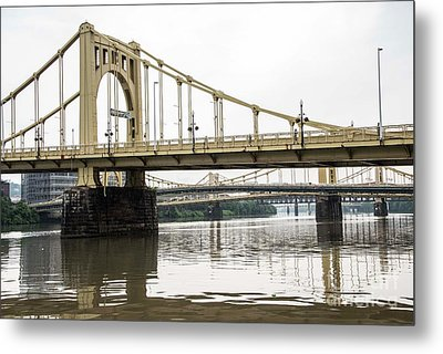 Spanning The Allegheny Metal Print by David Bearden