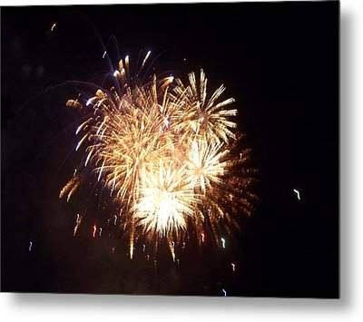 Sparklers In The Sky Metal Print by Rosanne Bartlett
